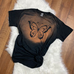 Bleached Butterfly T-Shirt - Black