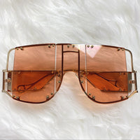 Floating Glass Oversized Sunglasses