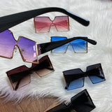 Focused On The Bag Oversized Square Sunglasses