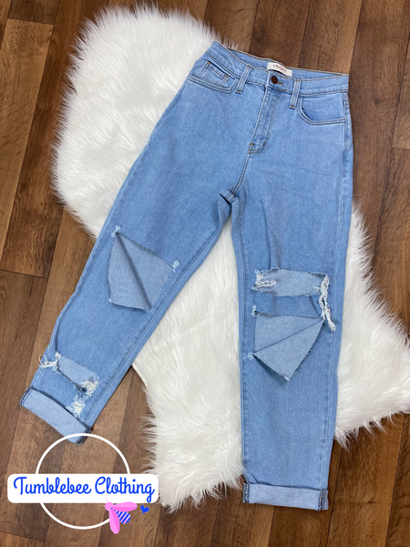 Not Your Mother's Mom Jeans - Light Stone Wash