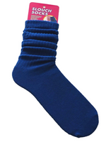 Cotton Blend Slouch Socks - Royal Blue