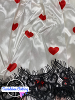 Steal Your Heart Pajama Short Set - White