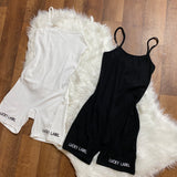 Lucky Label Rib-Knit Romper