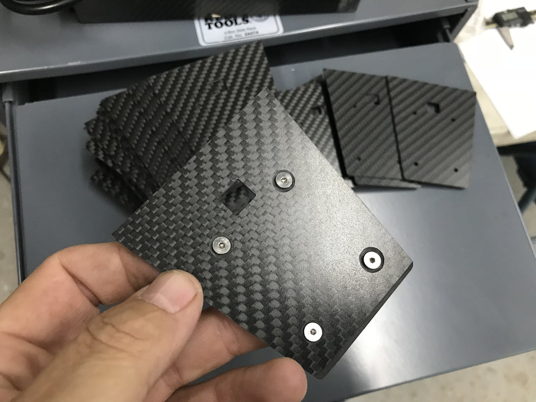 707 Style Carbon Fiber Cavitation Extension Plate for K&B 7.5cc or 11cc Lower Units.