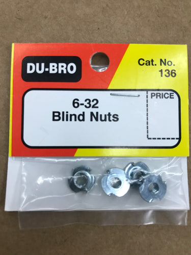 Dubro 6-32 Blind Nuts DUB136