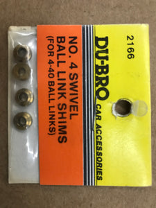 Dubro #4 Swivel Ball Link Spacers DUB2166