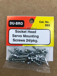 Dubro Socket Head Servo Mounting Screws DUB893