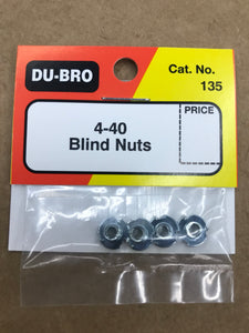 Dubro 4-40 Blind Nuts DUB135