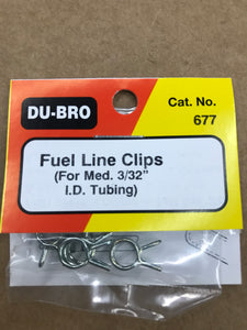 Dubro Medium Fuel Line Clips DUB677