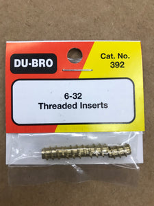 Dubro 6-32 Threaded Inserts DUB392