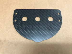 97+ Jeep Cherokee XJ Carbon Fiber Switch Panel, 3 Hole Round Toggle