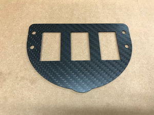 97+ Jeep Cherokee XJ Carbon Fiber Switch Panel, 3 hole Carling