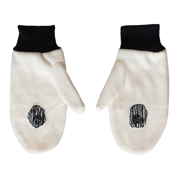 Boris & Oatmeal Embroidered Mittens