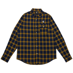 Boris & Oatmeal Embroidered Flannel