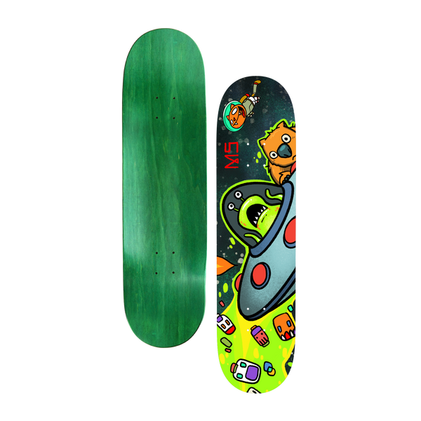 DF V.3 Alien Skate Deck