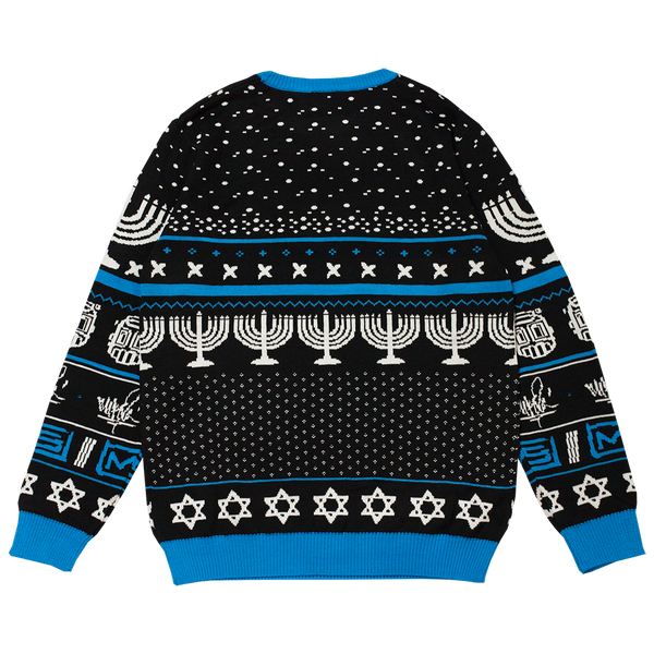 Line Sketch Hanukkah Knit Sweater