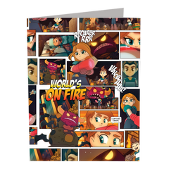 World's On Fire 3pc Folder Set