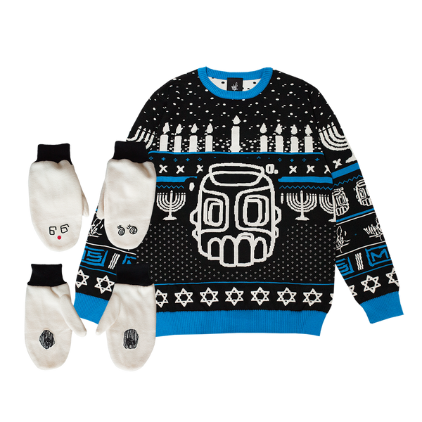 Hanukkah Sweater & Mittens Bundle