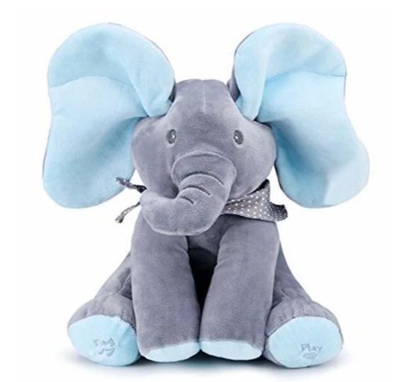 Blue Peek-a-Boo Elephant
