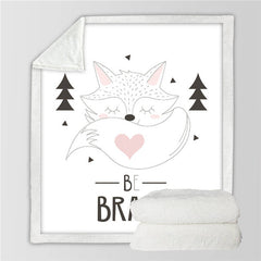 Be Brave Fox Throw Blanket