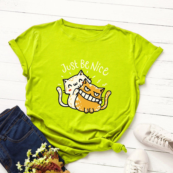 Just Be Nice Cat Shirt