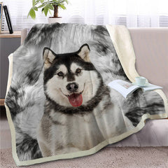 Alaskan Malamute Throw Blanket