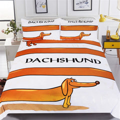 Stretched Sausage Dog Duvet Cover