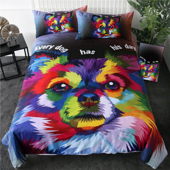 Pomeranian Watercolor Duvet Cover