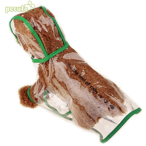 Small Breed Transparent Raincoat