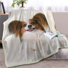 Papillon Spaniel Throw Blanket