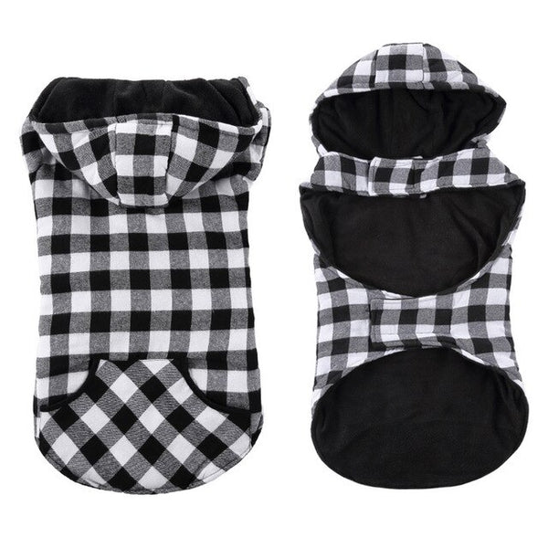 Checkered Plaid Outdoor Jacket Hoodie
