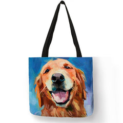 Smiling Goldie Watercolor Handbag