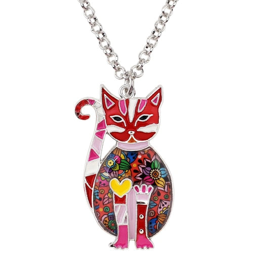 Floral Kitten Necklace