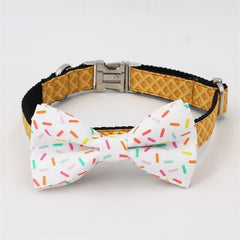 Sprinkles Bow Tie Collar and Leash Set