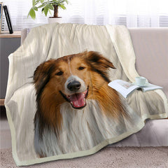 Lassie Collie Shepherd Dog Throw Blanket