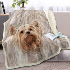 Yorkie Yorkshire Terrier Throw Blanket
