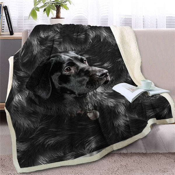 Black Labrador Throw Blanket