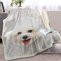 Maltese Throw Blanket
