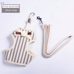 Striped Cat Harness and Leash