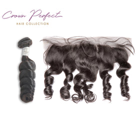 Frontal + 3 Bundles Plush wave