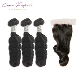 3 bundles + 1 closure Plush Wave