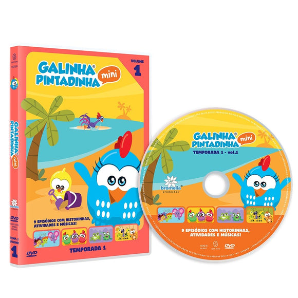 DVD Galinha Pintadinha Mini Vol. 1
