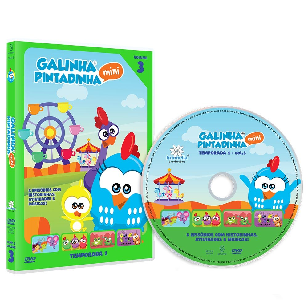 DVD Galinha Pintadinha Mini Vol. 3