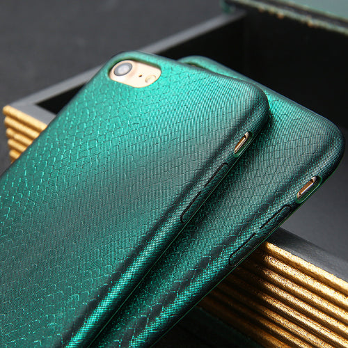 Aurora Snake Scales iPhone Cases