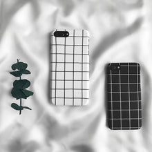 Modern Black and White Grid iPhone Cases