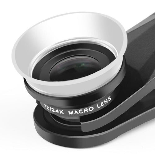 Premium 2 in 1 12x/24x Macro Lens for iPhone Mini Clip Optic Cell Phone Camera Lens