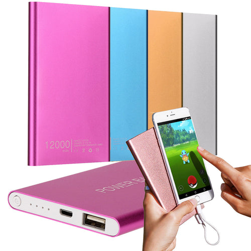 Ultrathin 12000mAh Portable USB External Battery Charger Power Bank for iPhone