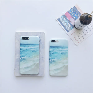Blue Sea Waves Beach Case