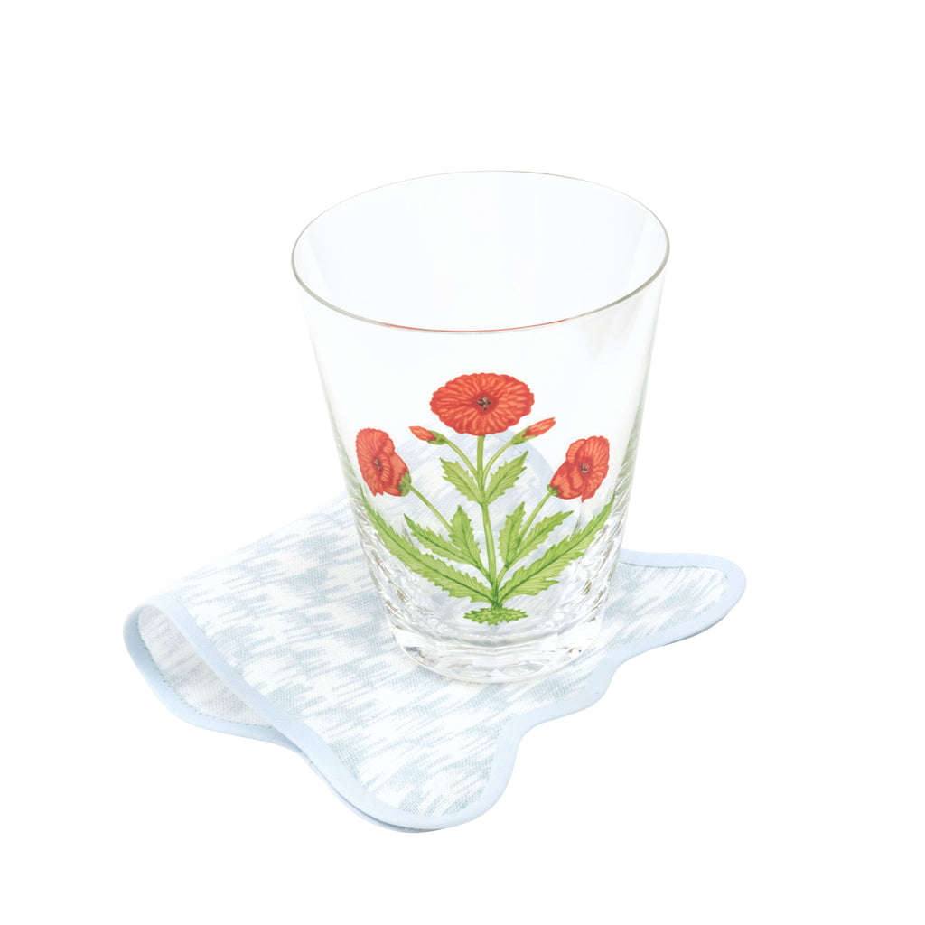 Papavero Hand-Painted Crystal Tumbler