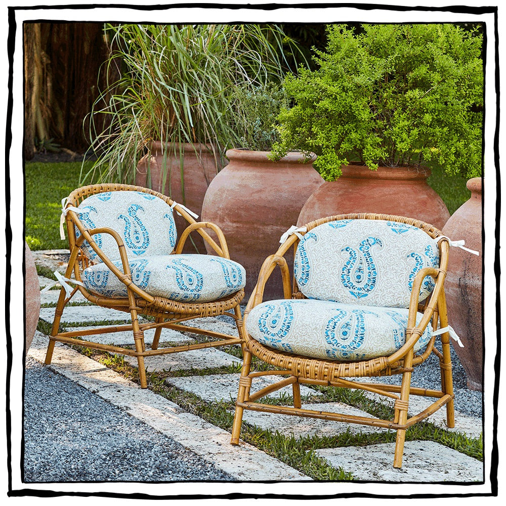 Rattan and Bamboo Armchairs
